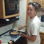 Cooking our first dinner: Chicken Enchiladas