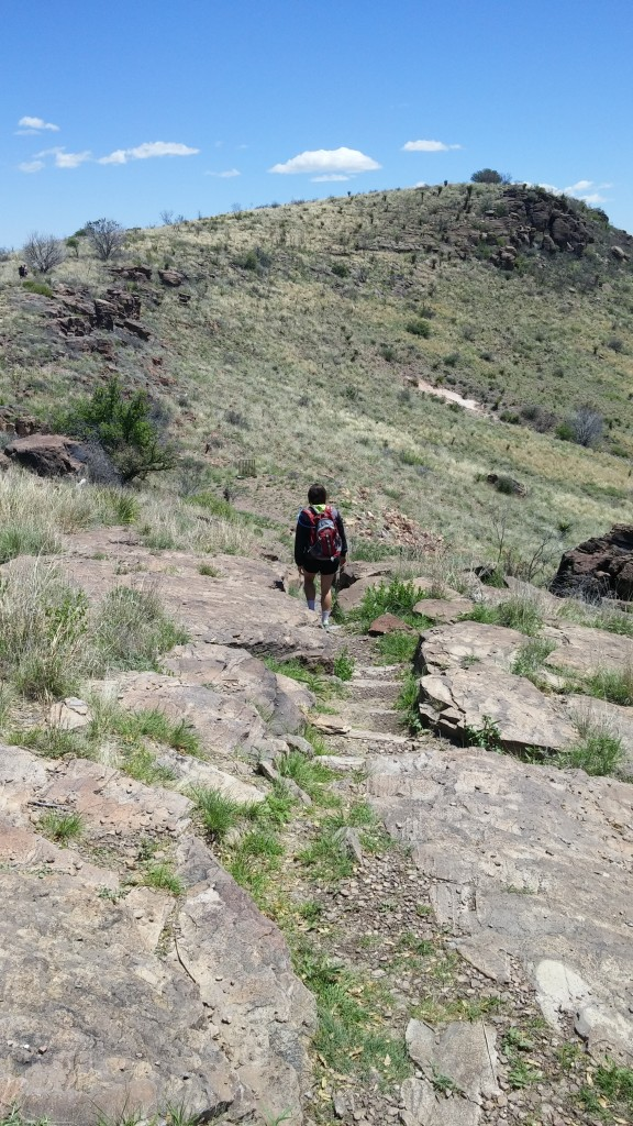 Walking down the trail to Fort Davis