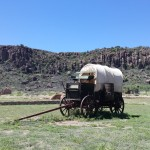 Wagon at Fort Davis