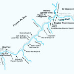 Map of the Trinity River