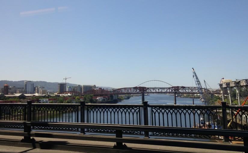 Downtown Portland by Bridge