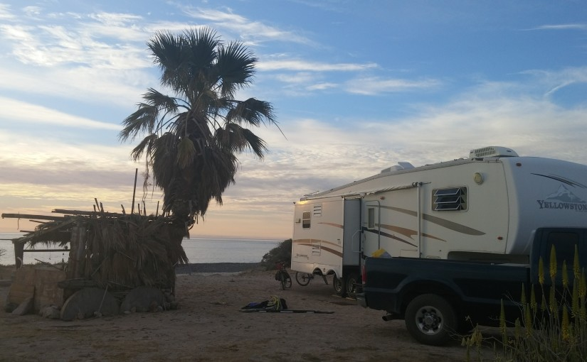 Free, beachfront camping at Cabo Pulmo National Park