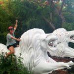 Ride that lion!