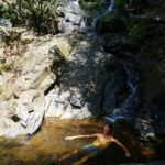 Swimming in one of the natural pools.
