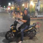 The new owner of our motorbike