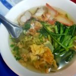 MMMmmm comfort food. Laotian noodle soup.