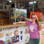 The next morning getting coffee before Angkor Wat