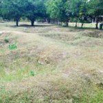 Mass grave pits